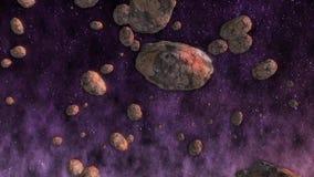 Fundo do espaço Asteroides no espaço filme