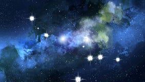 Fundo do espaço, céu estrelado ilustração stock
