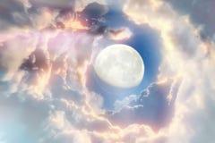 Fundo do espaço com planetas abstratos Fotos de Stock Royalty Free