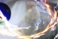 Fundo do espaço com planetas abstratos Fotografia de Stock