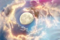 Fundo do espaço com planetas abstratos Imagens de Stock Royalty Free