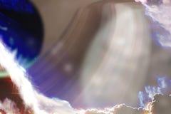 Fundo do espaço com planetas abstratos Imagem de Stock