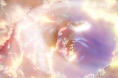 Fundo do espaço com planetas abstratos Imagens de Stock