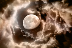 Fundo do espaço com planetas abstratos Imagem de Stock Royalty Free