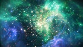 Fundo do espaço da nebulosa ilustração do vetor