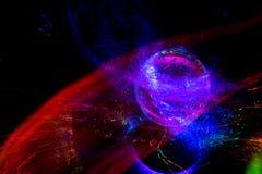 Fundo do espaço Galáxia e o planeta fotos de stock
