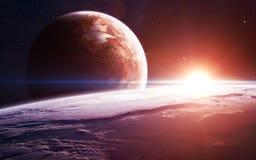 Fundo do espaço infinito com nebulosa e estrelas Elementos desta imagem fornecidos pela NASA fotografia de stock royalty free