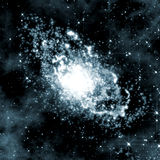 Fundo do espaço profundo com giro da galáxia ilustração stock