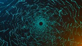 Fundo do espaço, superfícies da geometria, linhas e pontos abstratos vídeos de arquivo