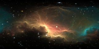 fundo do espa?o de 360 graus com nebulosa e estrelas, proje??o equirectangular, mapa do ambiente Panorama esf?rico de HDRI imagem de stock royalty free