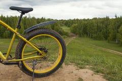Fundo do esporte da bicicleta - sujo gordo-coza exterior foto de stock royalty free