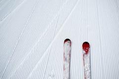 Fundo do esqui e da neve Fotografia de Stock