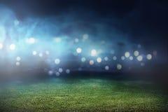 Fundo do estádio de futebol Foto de Stock