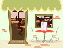 Fundo do estilo do mapa dos desenhos animados da cozinha Fotografia de Stock Royalty Free