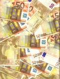 fundo do euro 50 Imagem de Stock Royalty Free