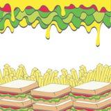 Fundo do fast food Imagem de Stock Royalty Free