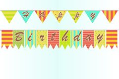 Fundo do feliz aniversario Foto de Stock Royalty Free