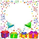 Fundo do feliz aniversario Fotografia de Stock Royalty Free