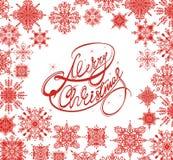 Fundo do Feliz Natal com flocos de neve do inverno foto de stock royalty free