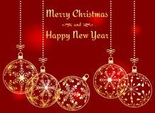 Fundo do Feliz Natal e do ano novo feliz Foto de Stock