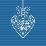 Fundo do feriado Cartão de Natal Joyeux Noel Fotos de Stock