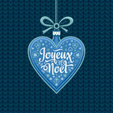 Fundo do feriado Cartão de Natal Joyeux Noel Foto de Stock Royalty Free