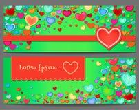 Fundo do feriado com corações da cor abstraia o fundo Fotos de Stock Royalty Free