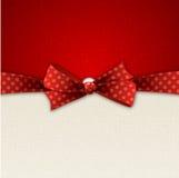 Fundo do feriado com curva vermelha Fotos de Stock Royalty Free