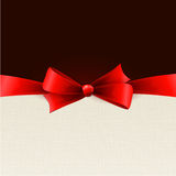 Fundo do feriado com curva vermelha Fotos de Stock