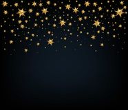Fundo do feriado com estrelas douradas Decoração do Natal Vect Imagem de Stock