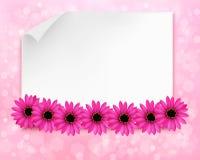 Fundo do feriado com a folha de papel e flores Imagens de Stock Royalty Free