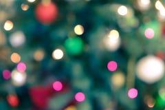 Fundo do feriado com luzes borradas Foto de Stock Royalty Free