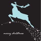 Fundo do feriado com rena do Natal Ilustração Royalty Free