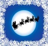 Fundo do feriado com Santa ilustração stock