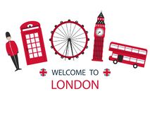 Fundo do feriado do curso da cidade de Londres Skyline moderna da cidade ilustração stock