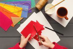 Fundo do feriado de DIY, decorações da festa de anos Imagem de Stock Royalty Free