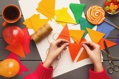 Fundo do feriado de DIY, decorações da festa de anos Fotografia de Stock Royalty Free