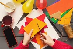 Fundo do feriado de DIY, decorações da festa de anos Imagens de Stock