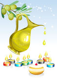 Fundo do feriado de Hanuka Fotografia de Stock Royalty Free