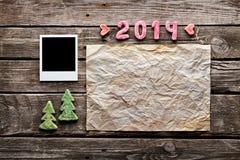 Fundo do feriado do ano novo do doce 2014 Fotografia de Stock