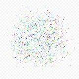 Fundo do feriado dos confetes Fotos de Stock