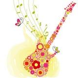Fundo do festival de música da guitarra da flor da primavera Fotografia de Stock