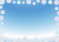 Fundo do floco de neve imagens de stock
