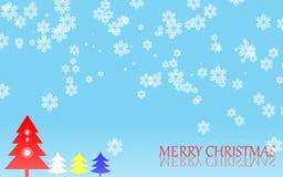 Fundo do floco de neve do Feliz Natal Imagens de Stock