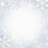 Fundo do floco de neve do inverno com espaço da cópia Imagens de Stock Royalty Free