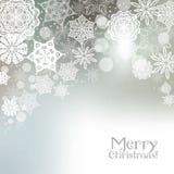Fundo do floco de neve do Natal Foto de Stock Royalty Free