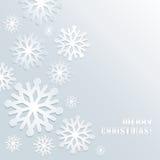 Fundo do floco de neve do Natal Imagens de Stock
