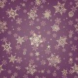 Fundo do floco de neve do teste padrão do Natal Eps 10 Imagens de Stock