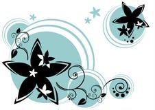 fundo do Flor-círculo ilustração royalty free