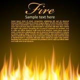 Fundo do fogo para seu projeto Fotos de Stock